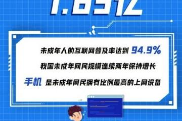 1.83亿我国未成年人互联网普及率达94.9%